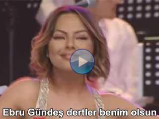 Ebru Gündeş Dertler benim olsun şarkısının video klibi izle şarkısını dinle