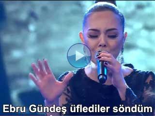 Ebru Gündeş Üflediler söndüm video klip ve şarkı sözü