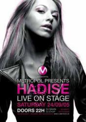 Hadise On stage Konser afişi albüm kapakları